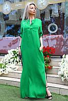 Женское Платье лен длинное в пол
