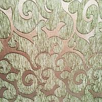 Мебельная ткань обивочная шенилл с люрексовой ниткой ширина ткани 150 см сублимация3063-оливка