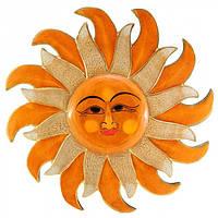 Солнце дерево (d-40 cм) , Картины, Бабочки в рамке, Панно, Ключницы