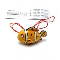 """Свистулька керамическая """"Рыба"""" оранжевая (8,5х6х4 см) , Музыкальная коллекция"""