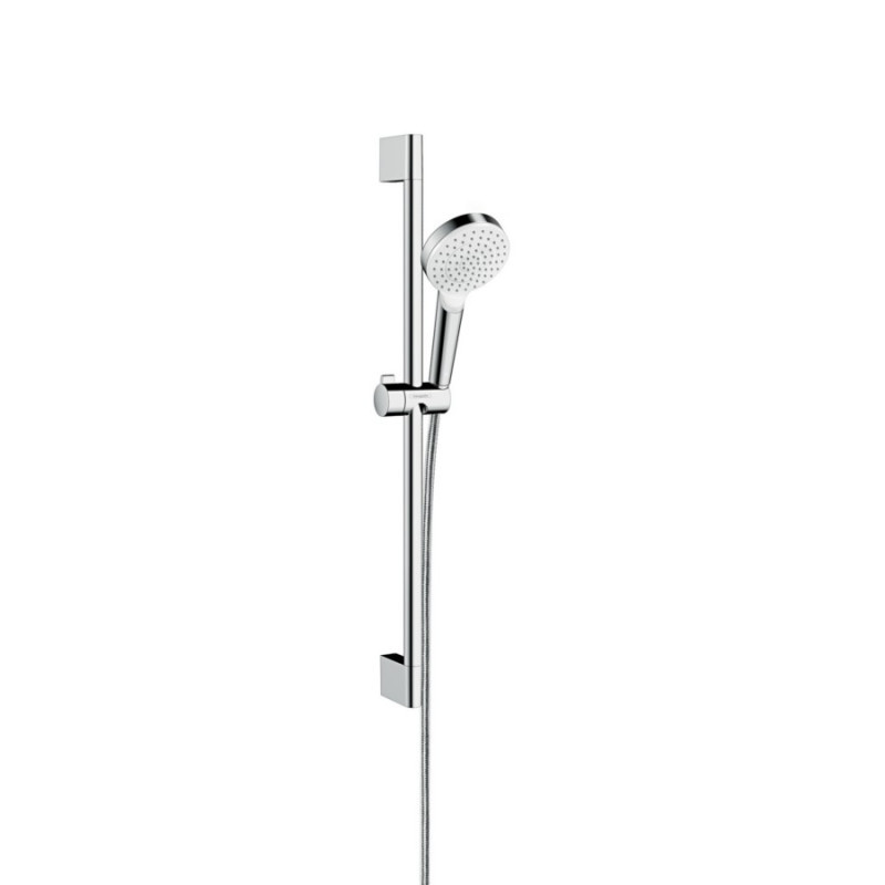 Hansgrohe Crometta 26533400 душевая стойка 0,65 м, белый/хром (стойка+лейка+шланг)