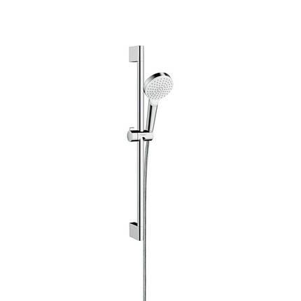 Hansgrohe Crometta 26533400 душевая стойка 0,65 м, белый/хром (стойка+лейка+шланг), фото 2