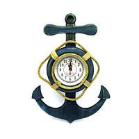 Якорь с часами (45х32,5х4 см) , Морская тематика