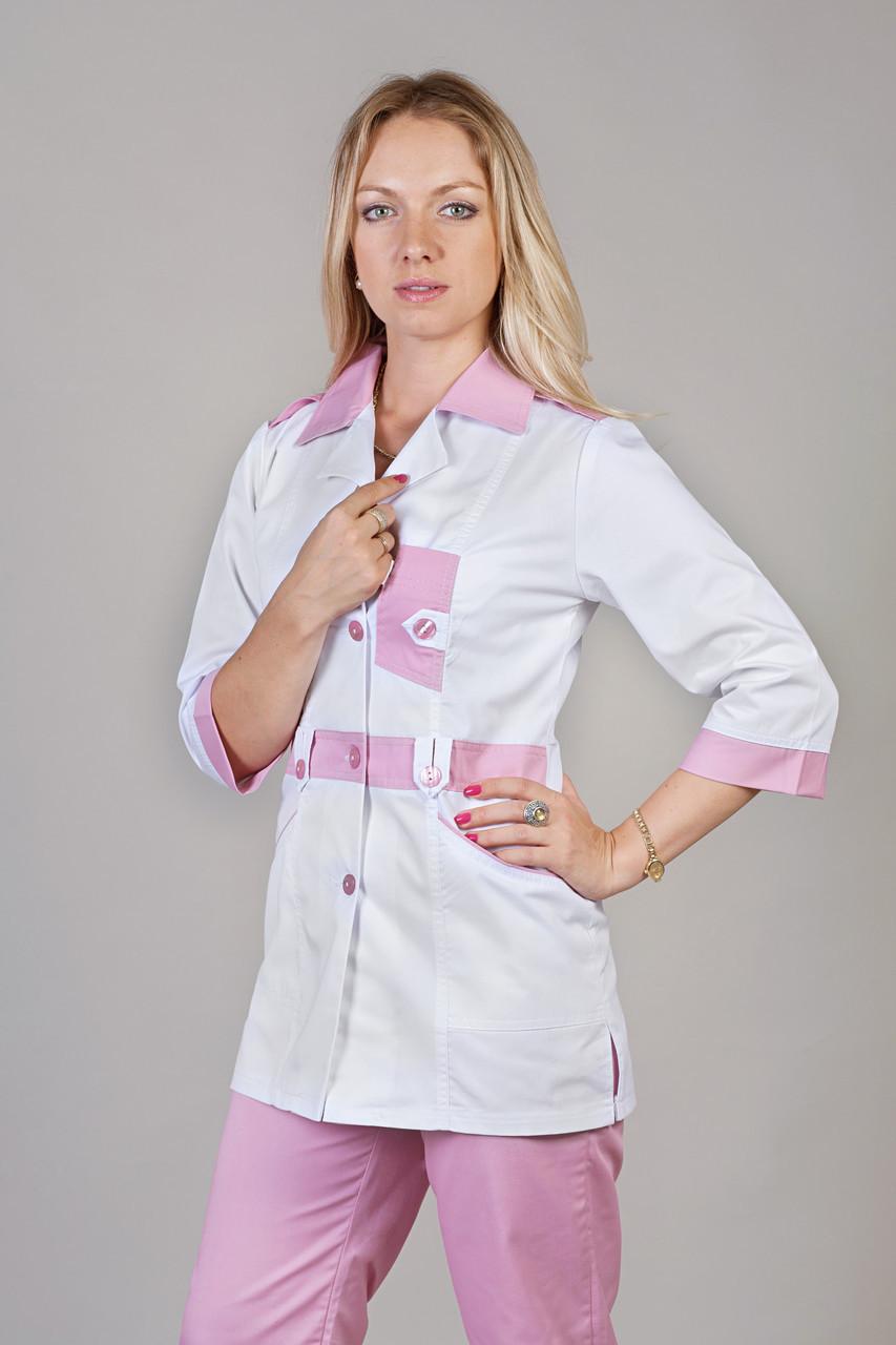 Медицинский женский костюм комбинированый с вставками