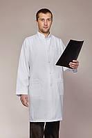 Халат медицинский мужской белый