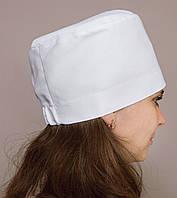 Медицинская женская шапочка белого цвета
