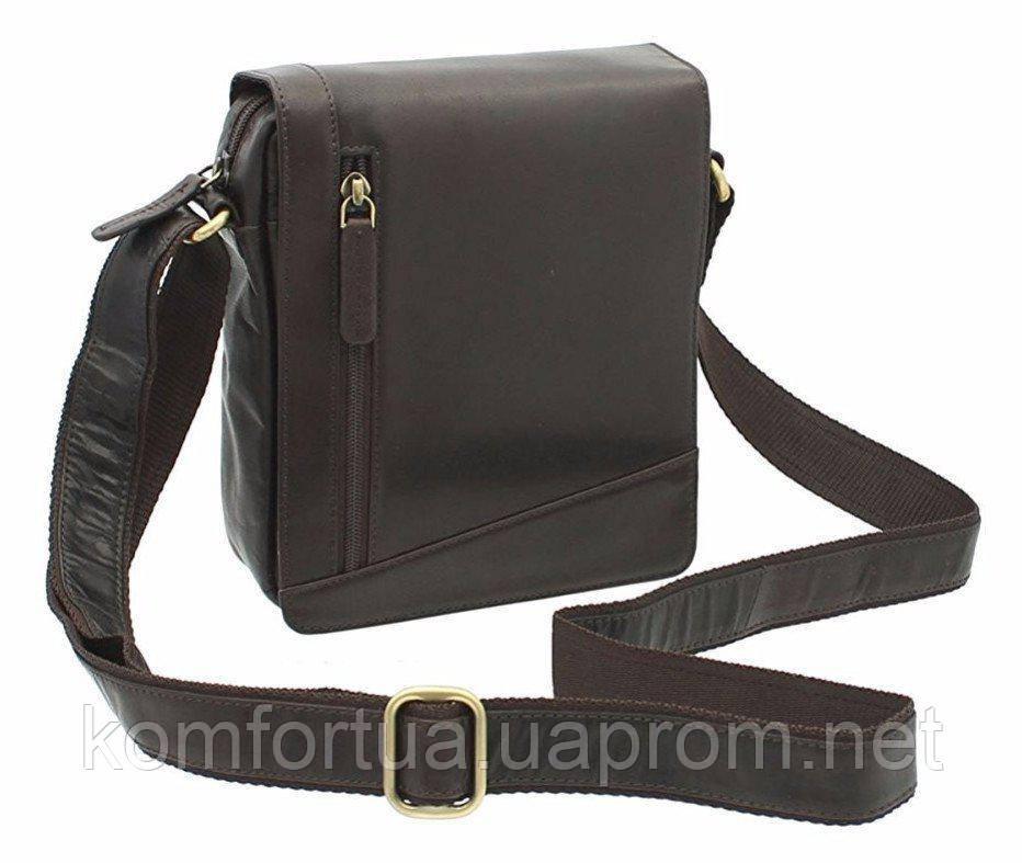 Маленькая коричневая сумка Visconti S7 (brown)