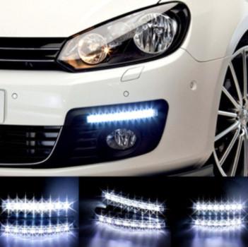 Универсальные светодиодные дневные ходовые огни LED DRL-6-Y-W с поворотником