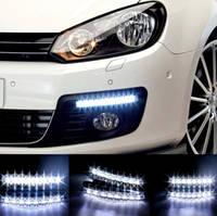 Универсальные светодиодные дневные ходовые LED огни DRL-6-Y-W с поворотником