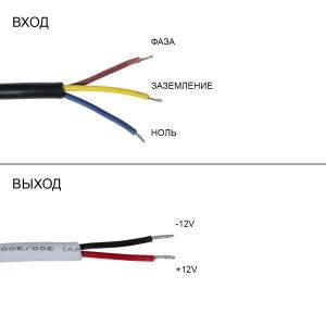 Блок питания 45W для светодиодной ленты DC12 3,75А WP герметичный, алюминиевый, фото 2