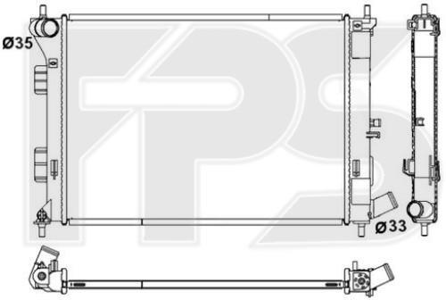 Радиатор охлаждения двигателя Hyundai Elantra MD '11-14, i30 (12-18) МКПП, бенз. дв. (FPS)