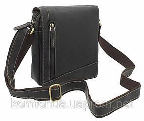 Маленькая коричневая сумка Visconti S7 (oil brown)