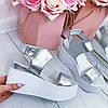 Босоножки на платформе серебро
