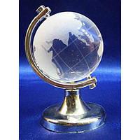 Глобус хрустальный белый (4)(7х4,5х4,5 см) , Глобусы