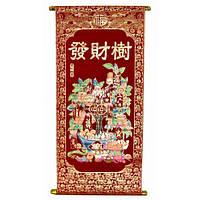 """Панно красное """"Денежное дерево"""" (80х30CM) , Картины, Бабочки в рамке, Панно, Ключницы"""