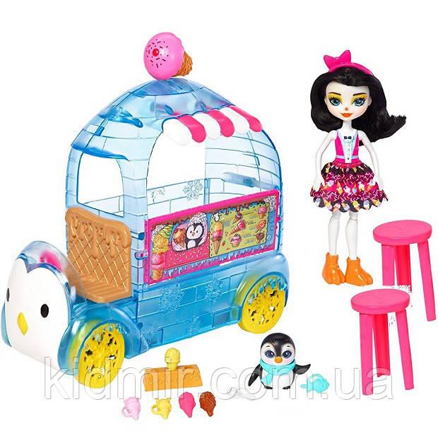 Набор Enchantimals Фургончик мороженого и кукла Прина Пингвин FKY58