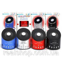 Колонка WSTER WS-A9 MP3/USB/MicroUSB/AUX/Radio (разные цвета)