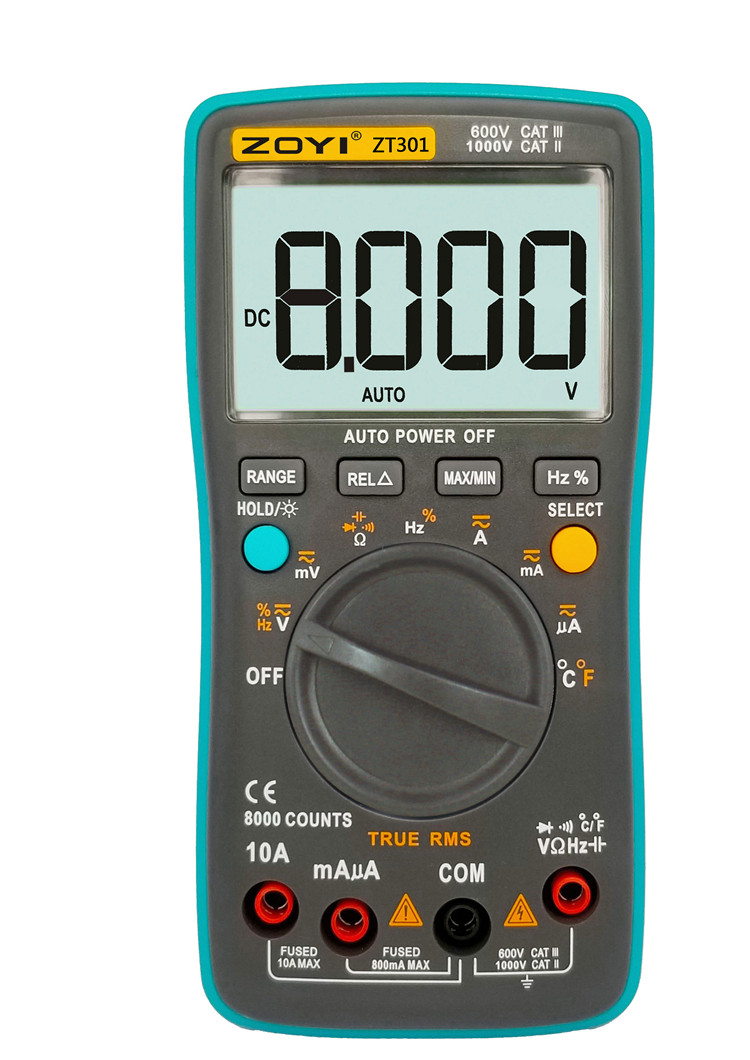 Мультиметр ZOTEK ZT301 с термопарой 8000 отсчётов True RMS тестер (RM3