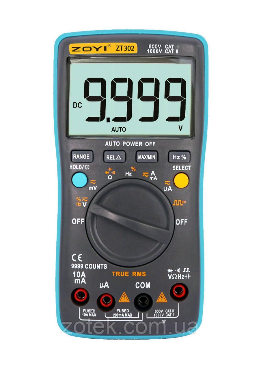 Мультиметр ZOTEK ZT302 9999 отсчётов True RMS тестер (RM302) ZOYI