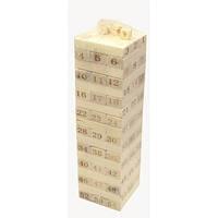 """Игра настольная """"Дженга"""" (54 бруска,4 кости)(26,5х7,5х7,5 см) , Игровая коллекция"""