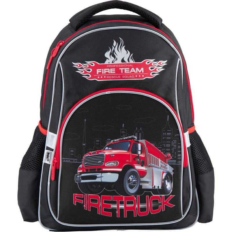 f3383ce65344 Школьный рюкзак для мальчика Kite Firetruck K18-513S - Интернет-магазин
