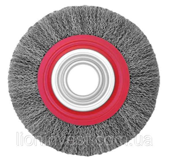 Щітка дискова 115х22,2 мм (гофрований дріт)