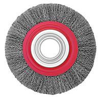 Щетка дисковая 100х22,2 мм (гофрированная проволока)