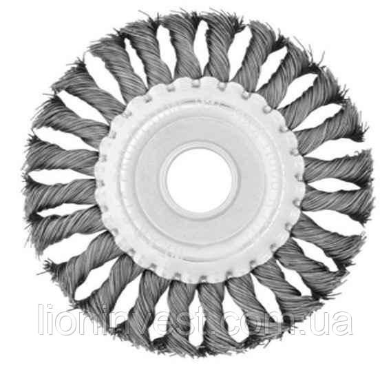 Щетка кольцевая 115*22.2 мм (витая проволока)