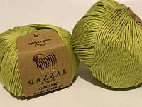 Пряжа для вязания Gazzal ORGANIC BABY COTTON (органик беби котон) гипоаллергенный хлопок  -426 фисташка