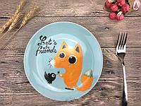 Детская тарелочка Давай дружить, фото 1
