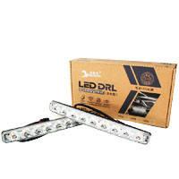 Универсальные светодиодные дневные ходовые огни LED DRL-9-Y-W с поворотником