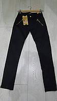 Черные котоновые брюки для девочек подростковые