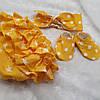 Желтые трусики под памперс + пинетки + повязка-солоха