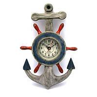 Якорь с часами (33,5х21х4,5 см) , Морская тематика