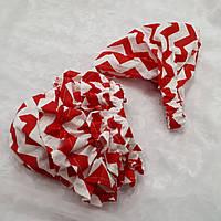 Комплект: Трусики под памперс + бандана-косынка. Цвет - красные волны
