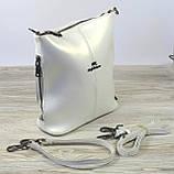 Кожаная женская сумка белого Farfalla Rosso, фото 3