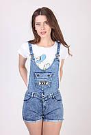 Красивый комбинезон шорты для женщин (27,голубой), фото 1