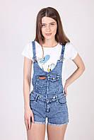 Стильный женский комбинезон шорты хит продаж (28,голубой), фото 1