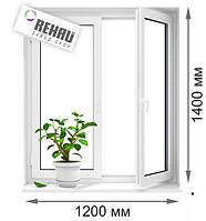 Окно двухстворчатое REHAU Ecosol-Design 60 (1200*1400), фото 1