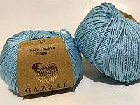 Пряжа для вязания Gazzal ORGANIC BABY COTTON (органик беби котон) гипоаллергенный хлопок -423