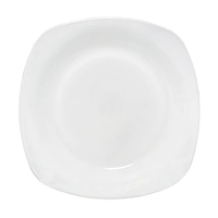 Тарелка 19 см 'Белая квадрат