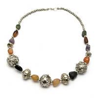 Ожерелье из агата и металла (25 см) , Украшения