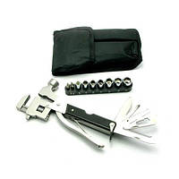 Нож-разводной ключ, молоток с набором инструментов (18,5х10х3 см)(17 в 1) , Ножи, замки