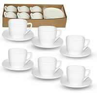 Набор кофейный 120мл Белый квадрат