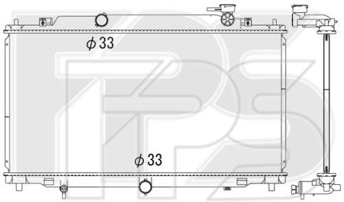 Радиатор охлаждения двигателя Mazda 6 GJ (13-18) 2.0, 2.5 А/МКПП (Koyo