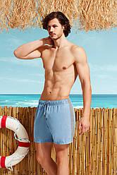Серо-голубые мужские шорты  Doreanse 3801