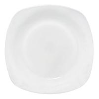 Тарелка 22 см 'Белая квадрат