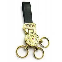 """Брелок для ключей с кожаным ремешком """"Стразы"""" 19387 B , Брелоки"""
