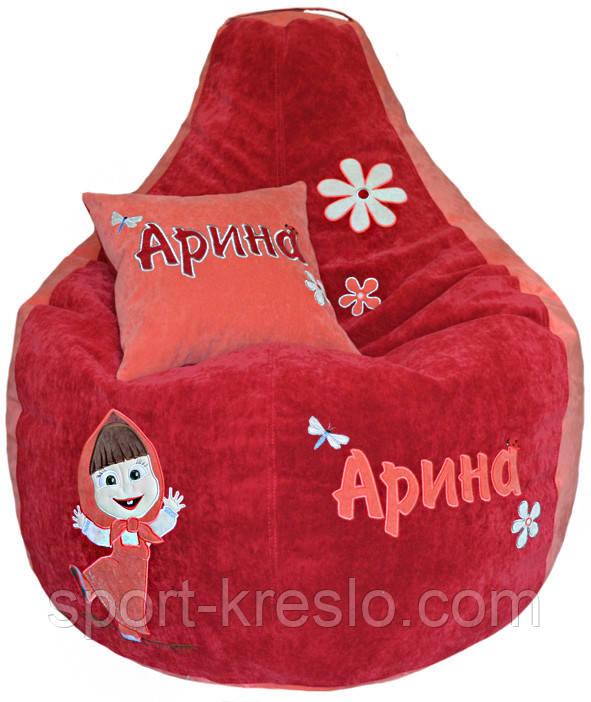 Кресло мешок груша МАША И МЕДВЕДЬ бескаркасная мебель детская пуф детский