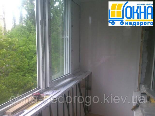 Балкон под ключ Васильков - внутренняя отделка балкона